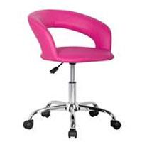 Design sgabello girevole da lavoro sedia da ufficio fuchsia - M-95098/2137