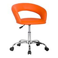 Design Rollhocker Arbeitshocker Bürostuhl Orange - M-95098/2139