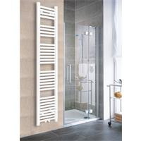 Towel Rail Radiator Width: 300 mm Straight White Lateral / Central fittings 