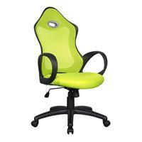 Chaise de bureau racing pivotante vert/noir 0388HB/2237