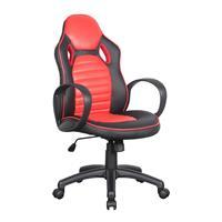 Racing Chaise de bureau gaming pivotant noir/rouge 0936M/2256