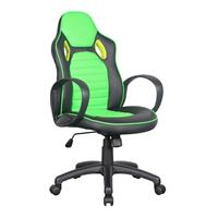 Racing Office Swivel Chair Black/green 0936M/2257