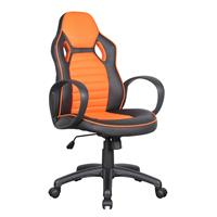 Racing Office Swivel Chair Black/Orange 0936M/2258