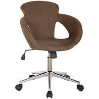 Design Taburete giratorio Silla de oficina tela marrón - M-65335-3/2338