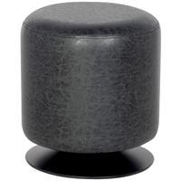 Sitzwürfel Sitzhocker Gepolstert Vintage Schwarz M-60351/4052