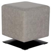 Sitzwürfel Sitzhocker Gepolstert Vintage Grau M-61352/4054