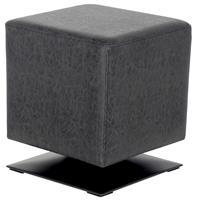 Sitzwürfel Sitzhocker Gepolstert Vintage Schwarz M-61352/4055