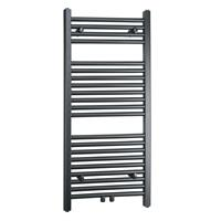 Towel Rail Radiator Width: 450 mm Straight Gray Lateral / Central fittings 
