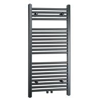 Towel Rail Radiator Width: 500 mm Straight Gray Lateral / Central fittings 