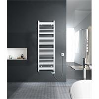 Electrical Bathroom Radiator Width 600mm Straight White R01E