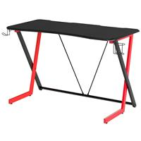 Gaming Computer Desk Gamer Desk Racing Carbon Optik black/red GT-003/8065
