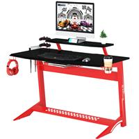 Gaming Computer Desk Gamer Desk Racing Carbon Optik black/red GT-008/8189