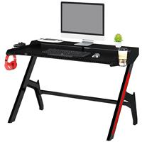 Gaming Computer Desk Gamer Desk Racing Carbon Optik black GT-007/8190