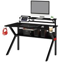 Gaming Computer Desk Gamer Desk Racing Carbon Optik black GT-006/8415