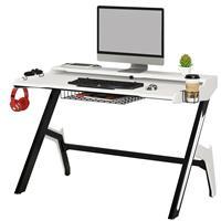 Gaming Computer Desk Gamer Desk Racing Carbon Optik White/Black GT-007/8416