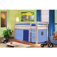 Childrens' Loft Bed Massive Pine Wood Light Blue SHB/25/1034