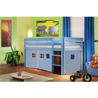 Childrens' Loft Bed Massive Pine Wood Blue Light Blue SHB/34/1365