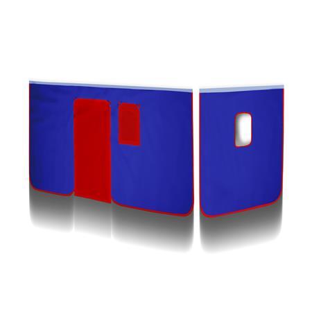 Rideaux Bleu/ Rouge V2 pour Lit surélevé VH-1279