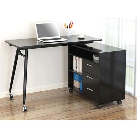 computerschreibtisch schreibtisch hochglanz schwarz ct 3366uam 2179. Black Bedroom Furniture Sets. Home Design Ideas