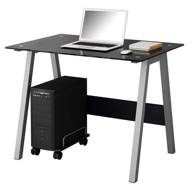 sixbros computertisch b rotisch schreibtisch glas schwarz ct 3359 36 ebay. Black Bedroom Furniture Sets. Home Design Ideas