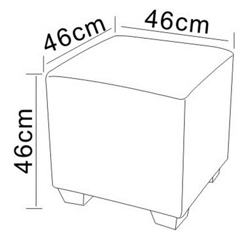Sitzwürfel Sitzhocker Gepolstert Braun 2001A/39