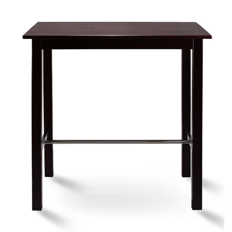 Table de bar bistro table pin massif Couleur wengé 75x105 BT-105/114