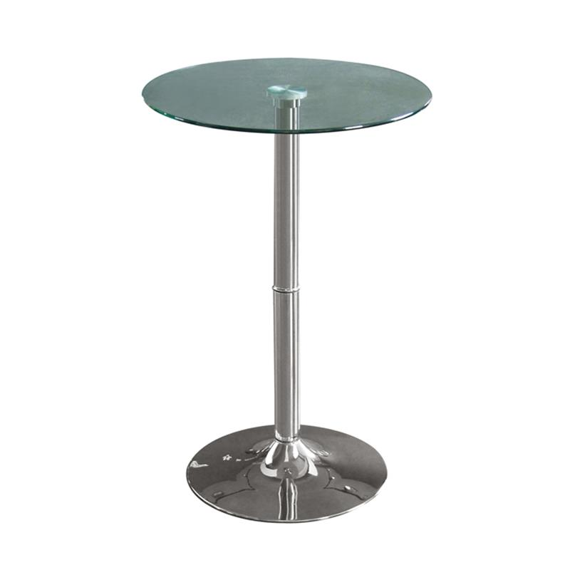 Table haute de bar chromé en verre M-80406H/163
