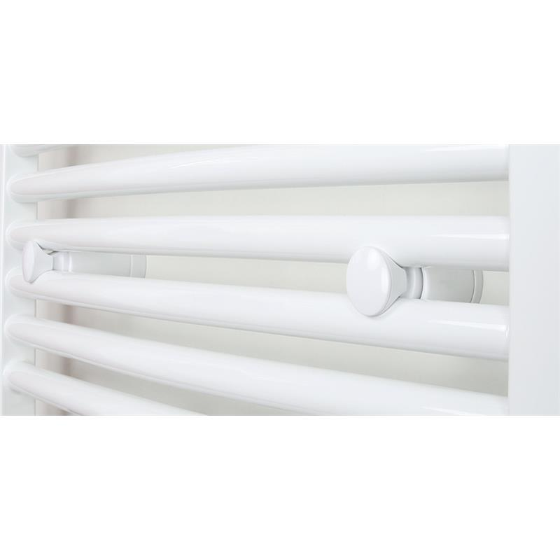Badheizkörper Breite: 450 mm Oval Weiß Mittelanschluss R20