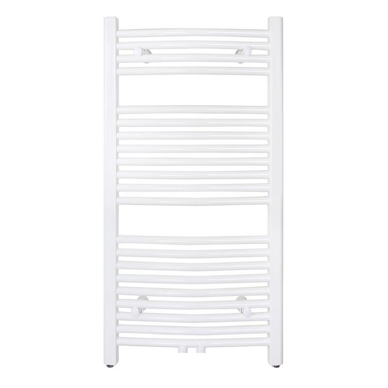 Radiador Toallero Anchura: 450 mm Oval Blanco Conexión central Conexión lateral R20