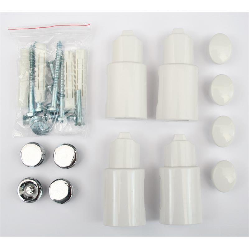 Badheizkörper Breite: 500 mm Oval Weiß Mittelanschluss Seitenanschluss R20