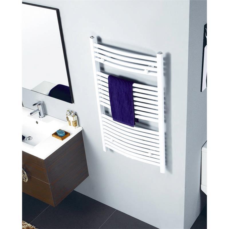Radiador Toallero Anchura: 600 mm Oval Blanco Conexión central Conexión lateral R20