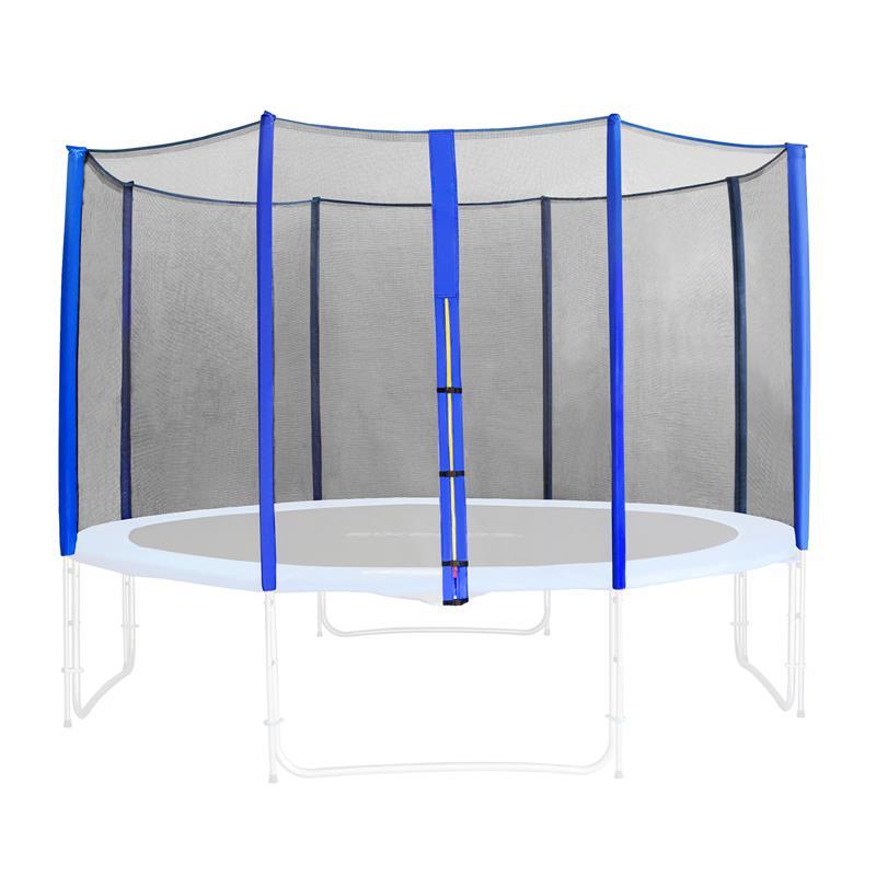 Rete di sicurezza per trampolino giardino blu 1,85m 4,60m diverse misure SN-ON/466
