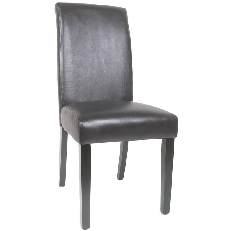 Chaise bois de hêtre massif wengé/noir 6018D/475