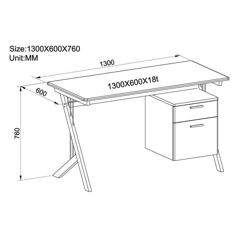 Sixbros scrivania porta pc bianco lucido ct 3365a 1128 for Misure scrivania