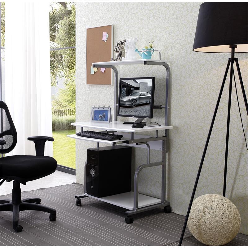 Sixbros scrivania porta pc bianco lucido ct 7800 1297 ebay - Porta computer bianco ...