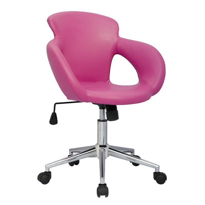 Design sgabello girevole da lavoro sedia da ufficio, fuchsia M-65335 ...