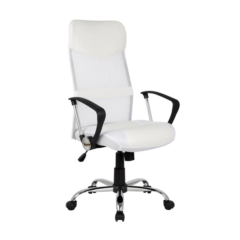 Design poltrona sedia ufficio sedia girevole bianca h 935 for Sedia design bianca