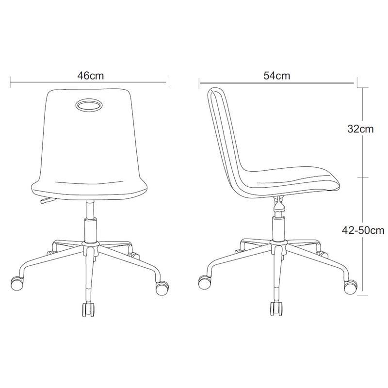Bürostuhl skizze  Bürostuhl Drehstuhl Weiß H-8470FA/1410