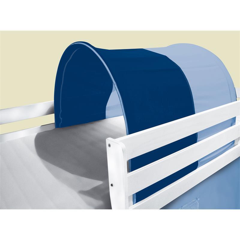 Tunnel grotte pour lit surélevé Lit de jeu bleu clair TSG-52