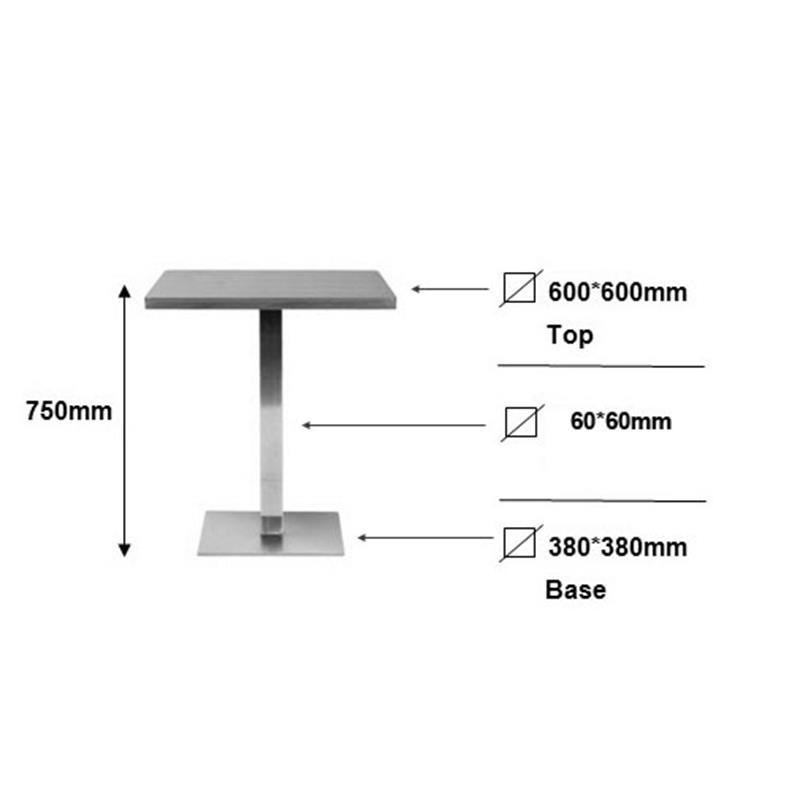 Table de Bar Table Bistro noir 60x60x75 M-BT60/1854