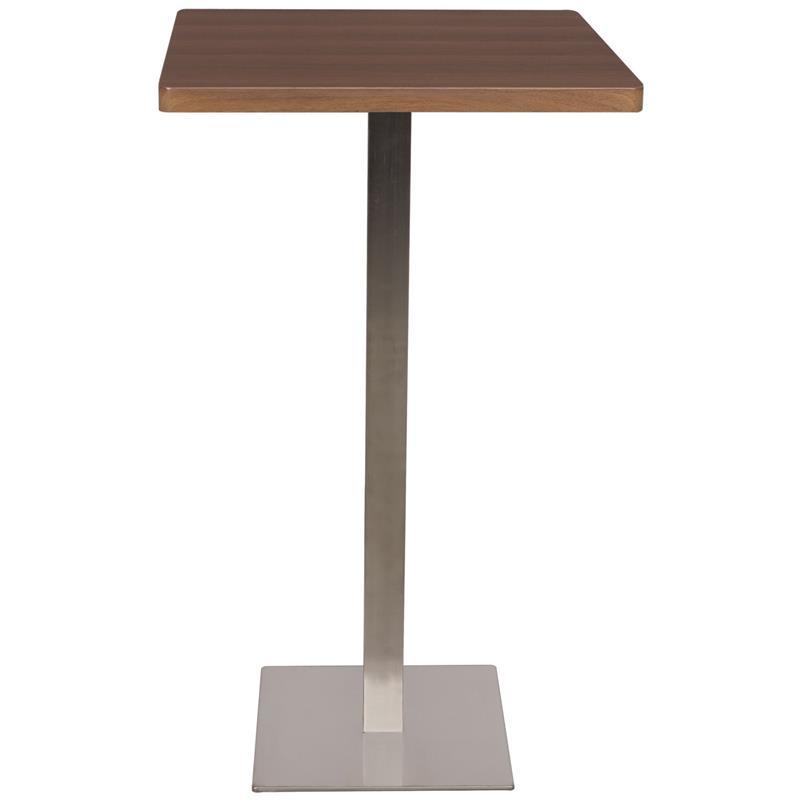 Tavolini Alti Da Bar.Tavolo Da Bar Tavolo Alto Noce Effetto Legno 60x60x105 M Bt60h 1432