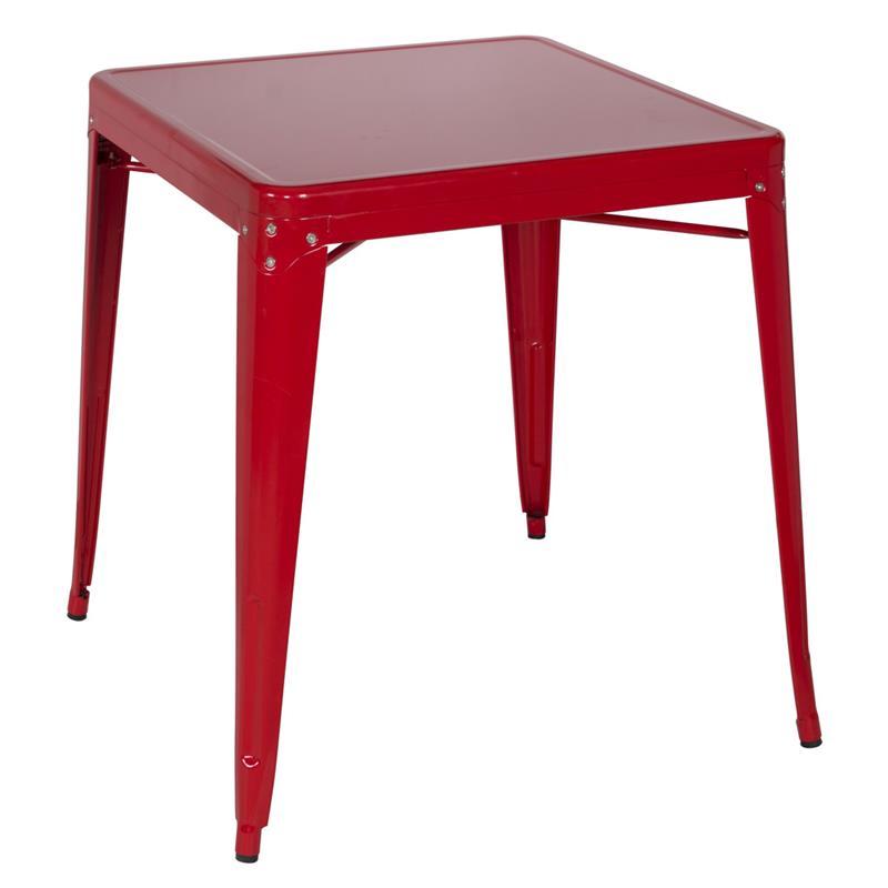Metalltisch industrie design rot m 84420 1487 for Design tisch rot