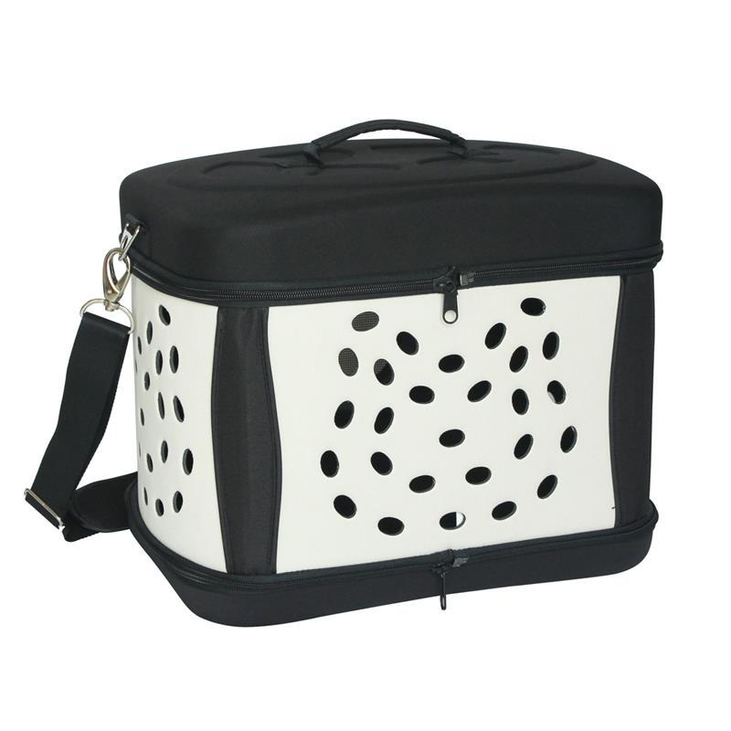 transportbox transporttasche hund katze faltbar schwarz. Black Bedroom Furniture Sets. Home Design Ideas
