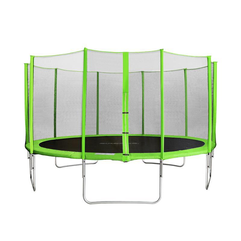 Sixbros sixjump 4 30 m trampoline vert avec filet pour le - Filet plastique jardin ...