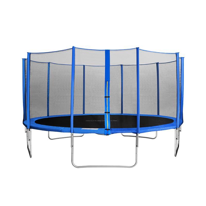 sixbros sixjump 4 60 m gartentrampolin blau trampolin mit. Black Bedroom Furniture Sets. Home Design Ideas