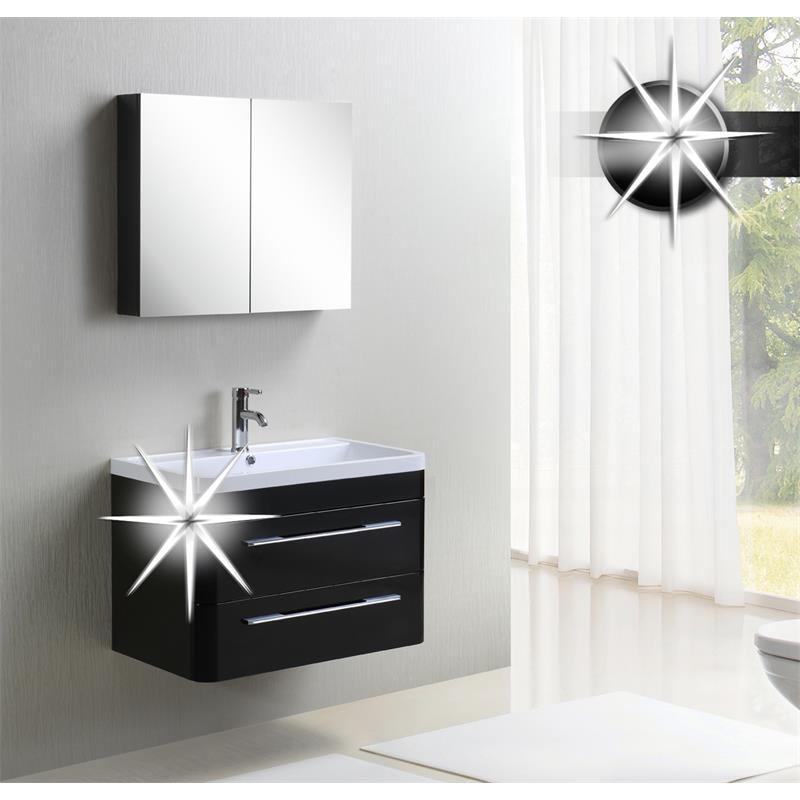 badezimmerm bel set badm bel milan hochglanz schwarz mc802. Black Bedroom Furniture Sets. Home Design Ideas