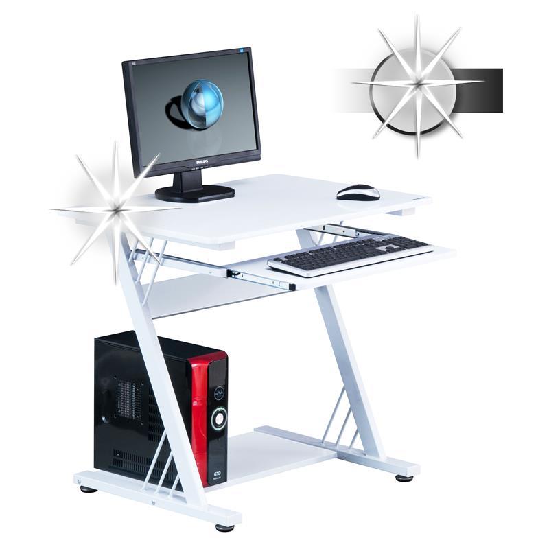 Sixbros office scrivania porta pc bianco lucido ct3312m - Porta computer bianco ...