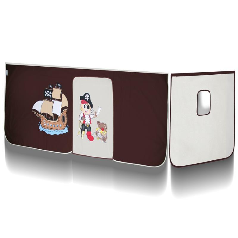 lit sur lev d 39 enfant avec tour et toboggan bois de pin massif blanc pirat marron beige shb 62 1032. Black Bedroom Furniture Sets. Home Design Ideas