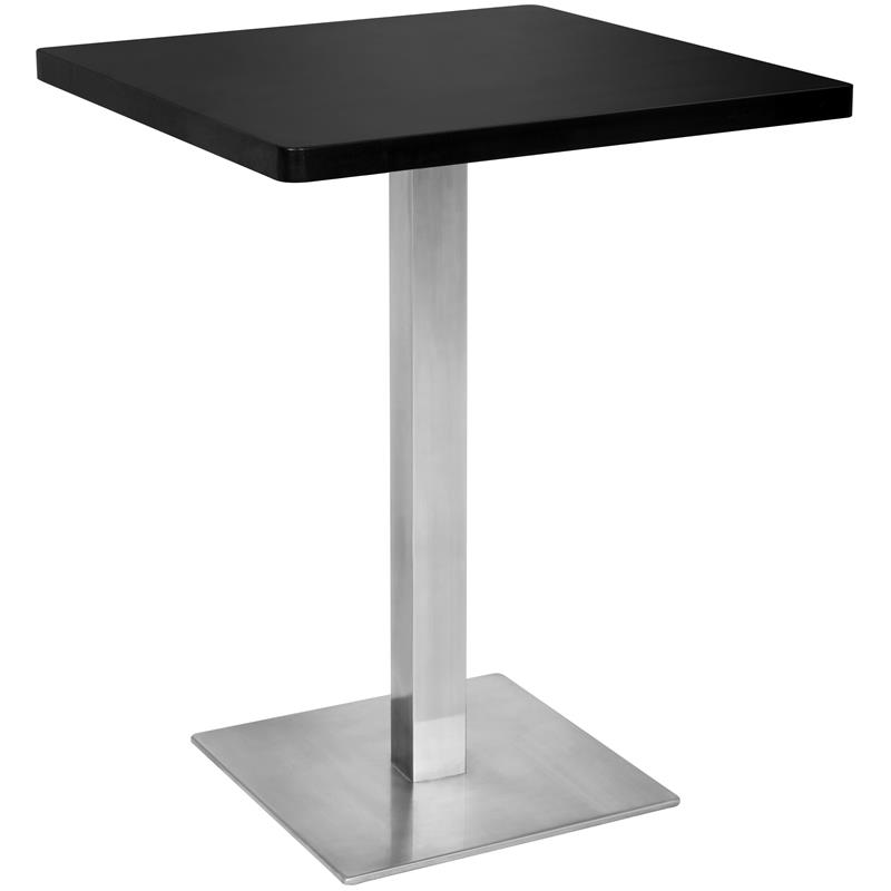 Table De Bar Noir.Table De Bar Table Bistro Noir 60x60x75 M Bt60 1854