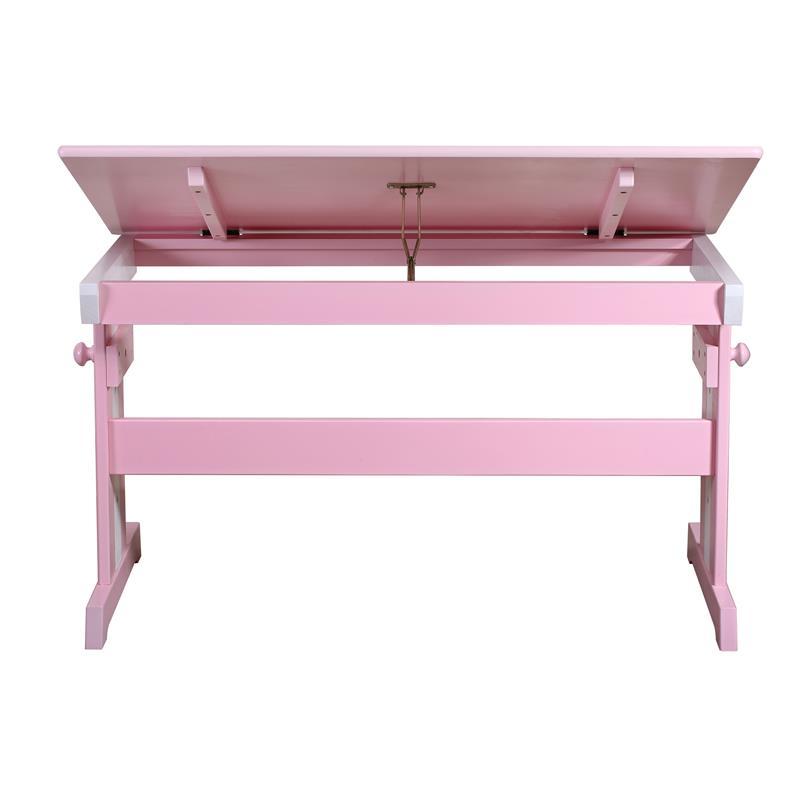 Mesa escritorio infantil pino macizo fucsia blanco rd00177 for Mesa escritorio infantil